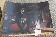 Johnny Depp Signed Autographed Sexy Dark Shadows 16x20 Photo Psa Certified