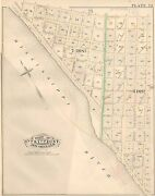 1883 Black Pearl New Orleans Louisiana Mississippi River To Walnut St Atlas Map