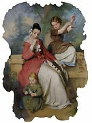 Girl With Two Children Playing Music Tile Mural Backsplash Art Marble Ceramic