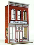 O Scale On3/on30/on2 Banta Model Works 6148 Union Bank Front Only.....