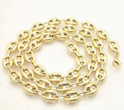 9mm Puffed Mariner Anchor Link Chain Necklace Real 10k Yellow Gold