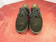 Moreschi Italian Made Dark Brown Suede Leather Oxford Laces Shoes Men Size 9