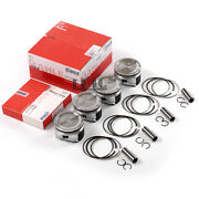 4x Engine Pistons And Rings 81mm Std Set For Vw Jetta Beetle Golf Gti Audi A4 1.8t