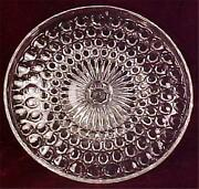Antique Beveled Buttons Cake Stand Duncan 320 Early American Pattern Glass