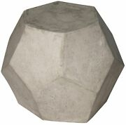 23 W Set Of Two Side Table Stool Fiber Cement Composite Modern Sculpture Rustic