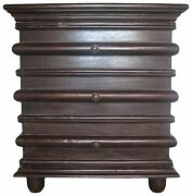 28 Set Of Two Side Table Night Stand Solid Mahogany Wood Rubbed Brown Finish Mo
