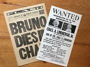 Baby Charles A. Lindbergh Jr. Wanted Posters Kidnappers - Aviation - Crime