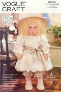 Vogue Victorian Doll Clothes And Full Color Transfer Pattern 8240 Size 19 Uncut