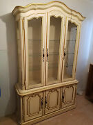 Drexel Heretage Anitique White / Gold Dining Room Set Remodeling, Must Sell