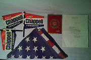 Vintage 1969 Us Capital Flag And 1968 Democratic National Convention Item