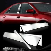 6 Pcs Stainless Chrome Door Pillar Post Covers Set For 2012-2016 Toyota Camry