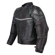 Pro Leather And Mesh Motorcycle Waterproof Jacket | Ce Armor | Reflective