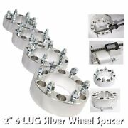 4pcs 53mm Wheel Spacer For Gmc 88-00 C2500/88-98 K1500 6 Lug Only Silver 2