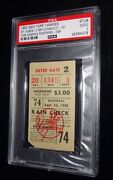 Mickey Mantle 1st Game In Pinstripes 9/23/1950 Yankees Vs Red Sox Psa Rare