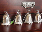 Reed And Barton Silverplate Christmas Bells Ornaments