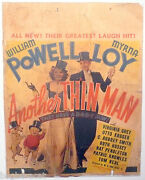 Orig Unrestored Cardstock Half-sheet - Another Thin Man - Wm. Powell And Myrna Loy