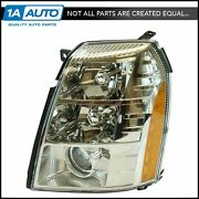 Hid Headlight Headlamp And Ballast W/ Chrome Bezel Lh Driver Side For Escalade New