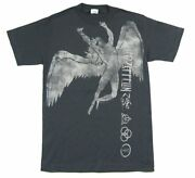 Led Zeppelin Jumbo Swan Song And Runes Image Grey T Shirt New Official Band Merch