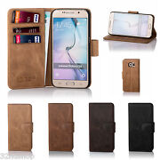 32nd Premium Genuine Leather Wallet Book Case Cover For Samsung Galaxy Phones