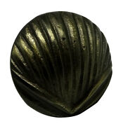 """Antique Brass Finish Iron Shell Drawer Knob – 1.26""""l Set Of 4 Cabinet Pull"""