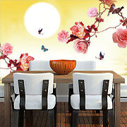 3d Moon Flower Water 3352wall Paper Wall Print Decal Wall Indoor Murals Wall Us