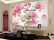 3d Flowers Ring Pink 3233 Wall Paper Wall Print Decal Wall Indoor Murals Wall Us