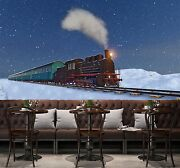 3d Train Whistle Snow 235 Wall Paper Wall Print Decal Wall Indoor Murals Wall Us