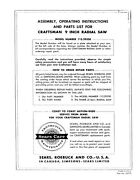 1965 Craftsman 113.29350 Radial Arm Saw - Instructions And Parts List