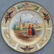Vintage Wedgwood Plate Imperial Russian Scenes With Kremlin And Russia Crest