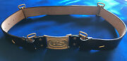 M1872 Infantry Leather Belt With Us Buckle Size Large 42-48 Indian Wars
