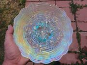 Northwood Ice Blue Rose Show Plate - Perfect With Loads Of Color