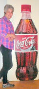 Vintage Acl - Related Soda Pop 6 Foot Full Color Bottle Of Coke On Heavy Stock
