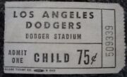 1970 Los Angeles Dodgers Ticket Stub Childs 0.75 Charlie Hough Auto
