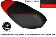 Red And Black Vinyl Custom Fits Honda Nsc 110 Wh Vision Dual Seat Cover Only