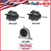 Engine Motor Mount Set For 2007-2008 Chrysler Pacifica 3.8 And 4.0l Auto Awd And Fwd