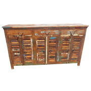 72 W Adrian Buffet 3 Drawer 6 Door Removable Shelves Hand Crafted Spectacular
