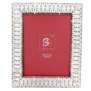 Italian 925 Sterling Silver Picture Frame Embroidery 7 X 9
