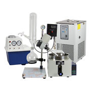2l Rotary Evaporator Complete Set W/ Water Vacuum Pump And Chiller
