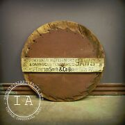 Antique Large Emerson Inserted Tooth Wooden Trade Saw Sign Not Porcelain
