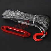 10mm X 30m 100and039 Winch Rope Synthetic Cable With Hawse Fairlead 4wd 4x4