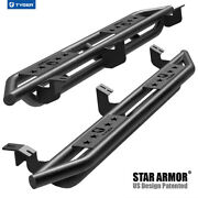 Tyger Star Armor Fit 2005-2021 Tacoma Access Cab Black Side Step Nerf Bars