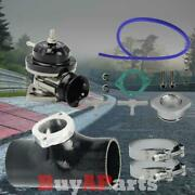 2.5 Black S/rs Bov Coupler W/ Clamps And Black Turbo S/rs 25 Psi Blow Off Valve