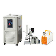 2l Rotary Evaporator Complete Turnkey W/ptfe Diaphragm Vacuum Pump And Chiller