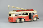 Antique Tin Toy French Joustra Bus Talloires-beaumont Bell Working Rare