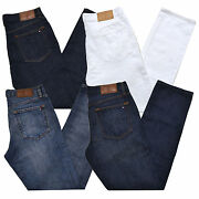 Jeans Mens Straight Leg Fit Denim Pants Casual Stonewashed New Th