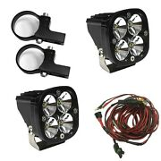 Baja Designs Squadron Pro Led Light 1.75and039 Horiz Mount Polaris Rzr Xp Turbo