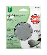 Shopsmith 5 In. Dia. Sanding Disc 80 Grit Coarse Hook And Loop 15 Pk