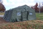 Used Military Expandable Modular Temper Tent 20' X 16' Od Green Or Tan