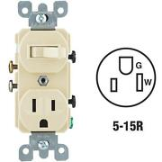 30 Pk Do It Best Ivory 15a Toggle Switch And 5-15r Electric Outlet C23-05225-00i