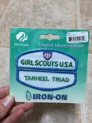 Girl Scouts Usa Tarheel Triad Council Identification Id Patch Set White